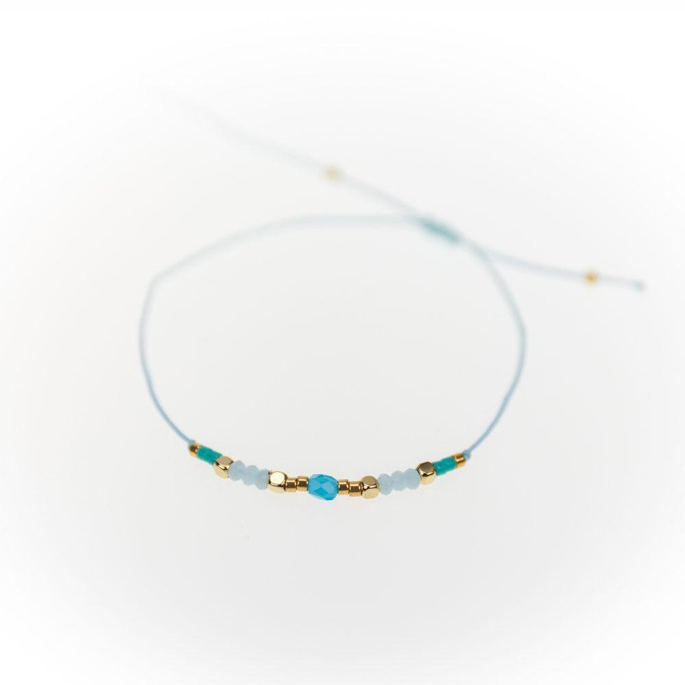 "Designsouvenir Armband ""Loveable Beads"" blau"