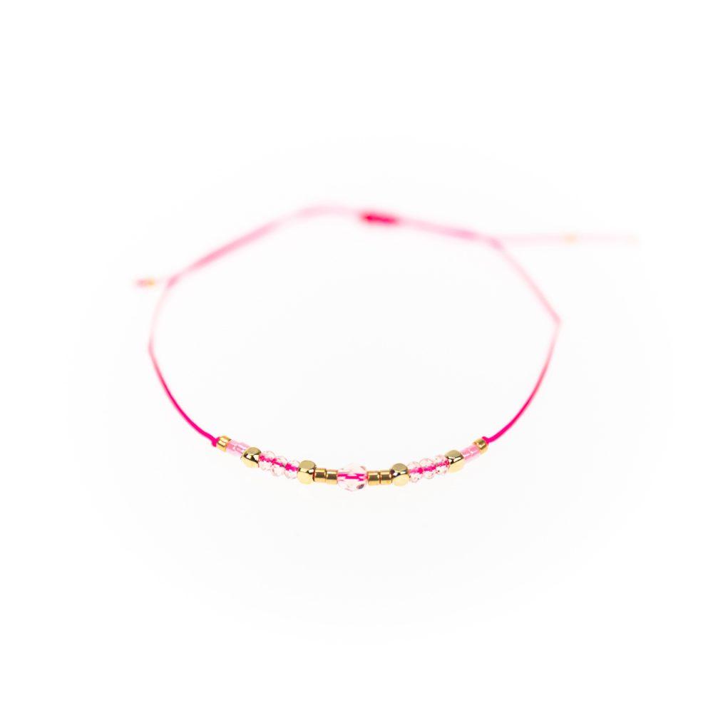 "Designsouvenir Armband ""Loveable Beads"" rosa"