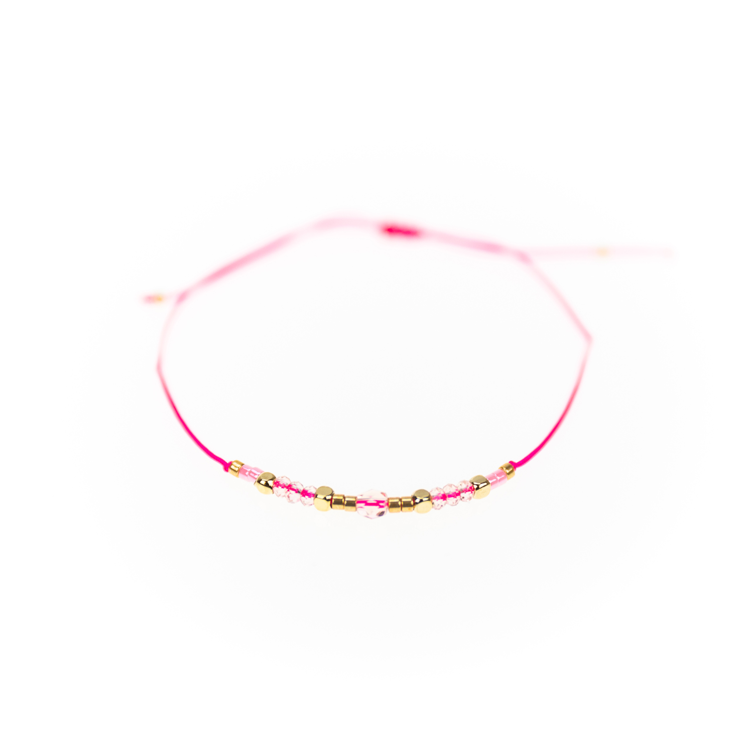 "Designsouvenir Armband ""Loveable Beads"" rosa"