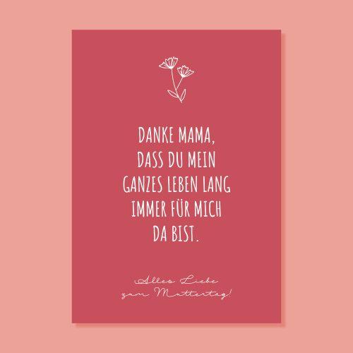 Muttertagskarte von Designsouvenir